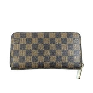 Louis Vuitton Zip Around Damier Ebene Wallet